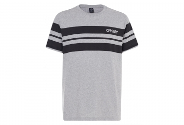 T shirt manches courtes oakley classic stripe wide gris l