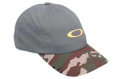 Casquette oakley 6 panel military hat gris camo