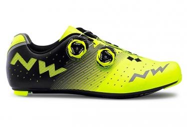 Chaussures route northwave revolution jaune fluo noir 42