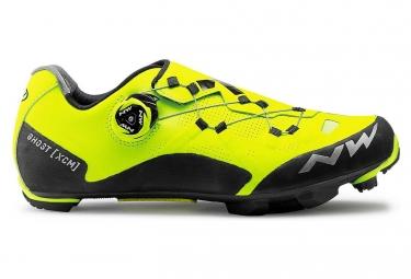 Chaussures vtt northwave ghost xcm jaune fluo noir 42