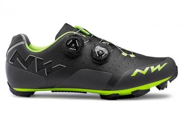 Chaussures vtt northwave rebel anthracite vert acide 41