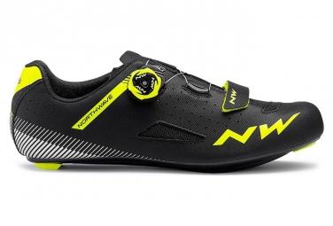 Chaussures vtt northwave core plus noir jaune fluo 41