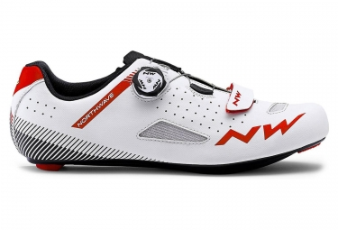 Chaussures route northwave core plus blanc rouge 41