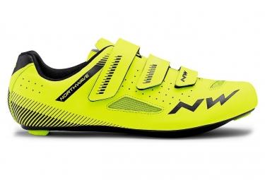 Chaussures route northwave core jaune fluo noir 42