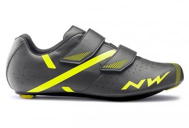 Zapatillas de carretera Northwave Jet 2 antracita amarillo neón
