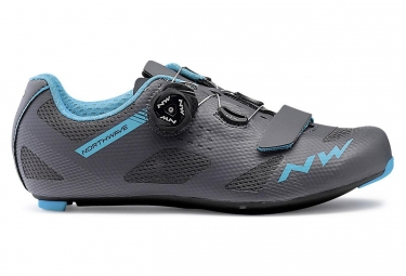 Northwave Road Shoes Women Storm Anthracite Aqua