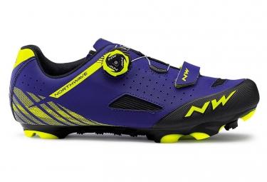 Zapatillas MTB Northwave Origin Plus Bleu / Jaune / Fluo