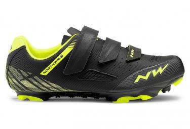 Chaussures vtt northwave origin noir jaune fluo 43