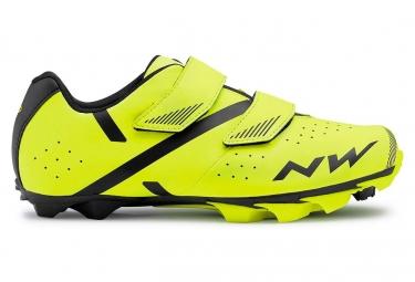 Chaussures VTT Northwave Spike 2 Jaune Fluo Noir