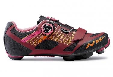 MTB ShoesWomen Northwave Razer Dark Red Black