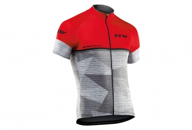 Jersey Short Sleeves Northwave Origin Red Grey