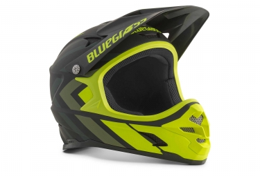 Bluegrass Intox Full Face Helmet Black Shaded Neon Yellow Matt