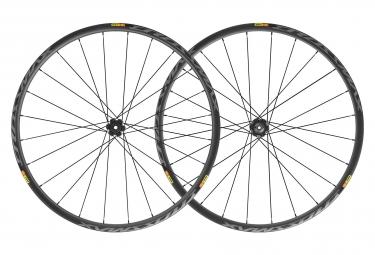 Paire de roues 29 mavic crossmax pro carbon 2019 12x142 mm 12 9x135 mm 6 trous noir shimano sram disque 6 trous