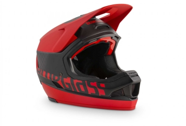 Bluegrass Legit Carbon Full Face Helmet Black Red Matt