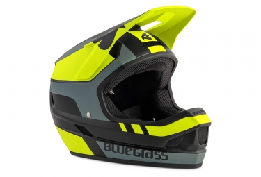 Bluegrass Legit Full Face Helmet Black Neon Yellow Grey Matt
