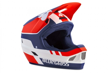 Casque integral bluegrass legit blanc rouge bleu mat xl 60 62 cm