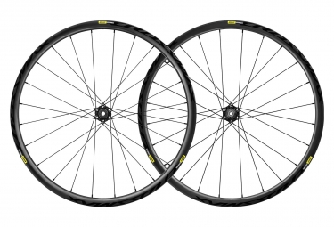 Paire de roues 29 mavic crossmax elite carbon boost 15x110 12x148 mm noir shimano sr