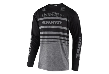 Troy Lee Designs Skyline Streamline Sram Long Sleeves Jersey Heather Grey Black