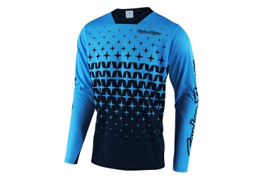 Troy Lee Designs Sprint Megaburst Long Sleeves Jersey Ocean Blue Navy Blue