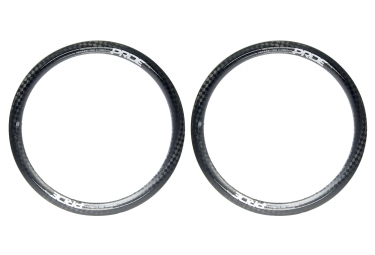 Pair of Rims Highmod Pro Carbon 20'' Gloss 12k Matte