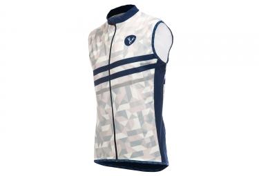 LeBram Croix de Fer Sleeveless Windbreaker Jacket Grey Blue