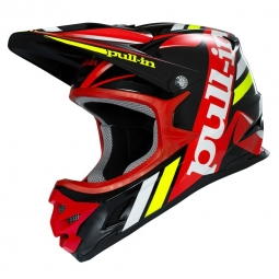Casque integral pull in adulte noir rouge l
