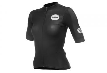 LeBram Allos Short Sleeve Women Jersey Pro Fit Black