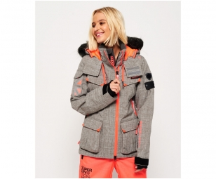 Snow Ski Coral Superdry Grey De Ultimate Veste 6SOvTz