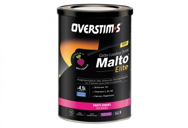 Boisson energetique overstims malto elite fruits rouges 450 g