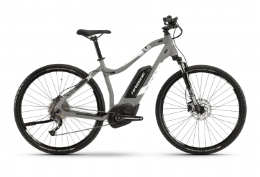 Haibike Sduro Cross 3.0 Women Hybrid Touring 2019 Shimano Alivio 9S Grey / White
