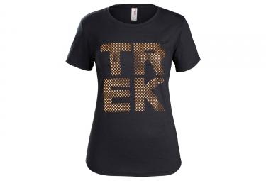 T-shirt Trek à Pois Pour Femmes Noir