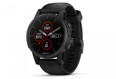 Garmin Fenix 5S Plus Sapphire GPS Watch Black with Black Band