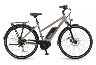 Vélo de Ville Électrique Winora Sinus Tria 8 Shimano Alivio 9V Beige 2019