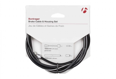 Bontrager Road And MTB Brake Cable & Housing Set Black