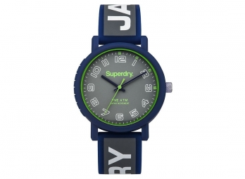 Montre Superdry Campus Bleu Gris