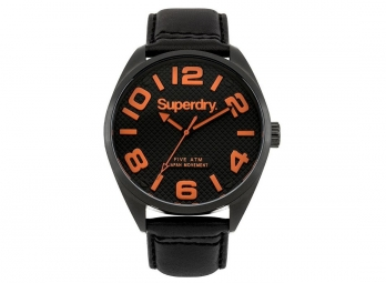 Montre superdry military noir orange