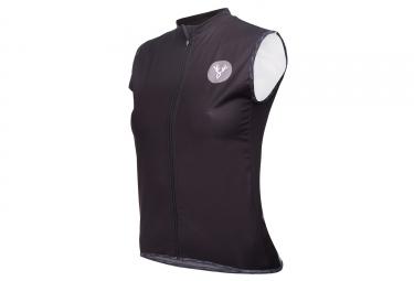 LeBram Eze Women Sleeveless Windbreaker Jacket Black