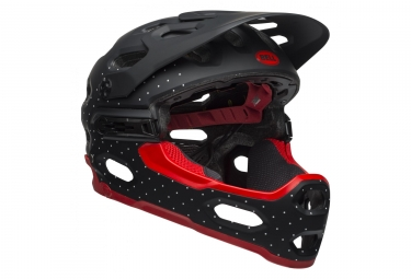 Bell Super 3R MIPS Helmet Black/Red 2019