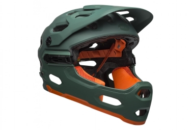 Bell Super 3R MIPS Helm Grün / Orange 2019