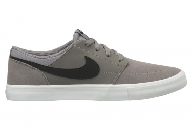Nike SB Solarsoft Portmore II Shoes Gunsmoke / Black / White
