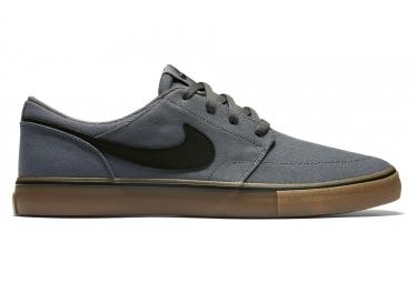 Paire de Chaussures Nike SB SolarSoft Portmore II Gris / Noir / Marron