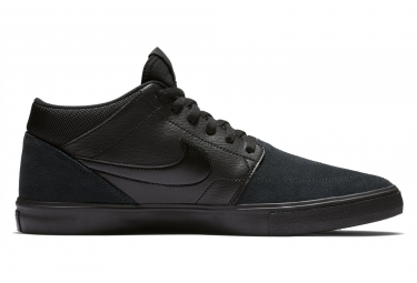 Nike SB Solarsoft Portmore II Mid Shoes Black