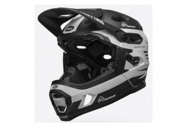 Bell Super DH Mips Casco con rayas extraíbles Fasthouse Fasthouse negro mate / blanco