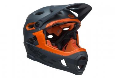 Bell Super DH Mips Helm mit abnehmbarem Kinnriemen Matt / Gloss Slate / Orange