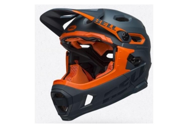 Bell Super DH Mips Helmet with Removable Chinstrap Matt/Gloss Slate/Orange