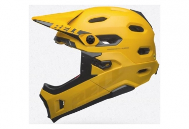 Bell Super DH Mips Helmet with Removable Chinstrap Matt/Gloss Yellow/Black