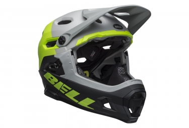 Bell Super DH Mips Helmet with Removable Chinstrap Unhinged Matte/Gloss Gray/Green/Black 2019