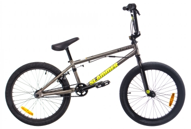 Bmx freestyle gt slammer 20 raw gris 2018 20 pouces 140 160 cm