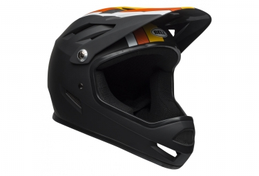 Casque integral bell sanction noir jaune orange 2019 m 55 59 cm