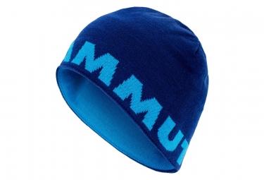 Bonnet Mammut Logo Bleu